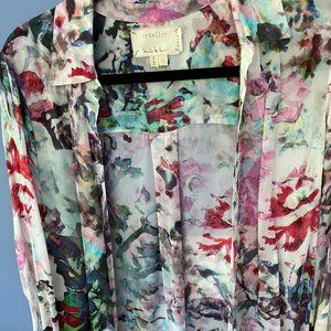 Nicole miller Water color blouse